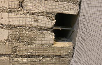 新旧墙体钢丝网+拉结筋